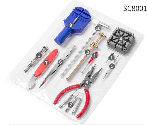 Bộ dụng cụ tháo lắp sửa chữa đồng hồ tiện dụng đầy đủ các chức năng MTS-1701 Tặng kèm Túi Đựng 9 món. dụng cụ sửa chữa đồng hồ, đồng hồ bán chạy