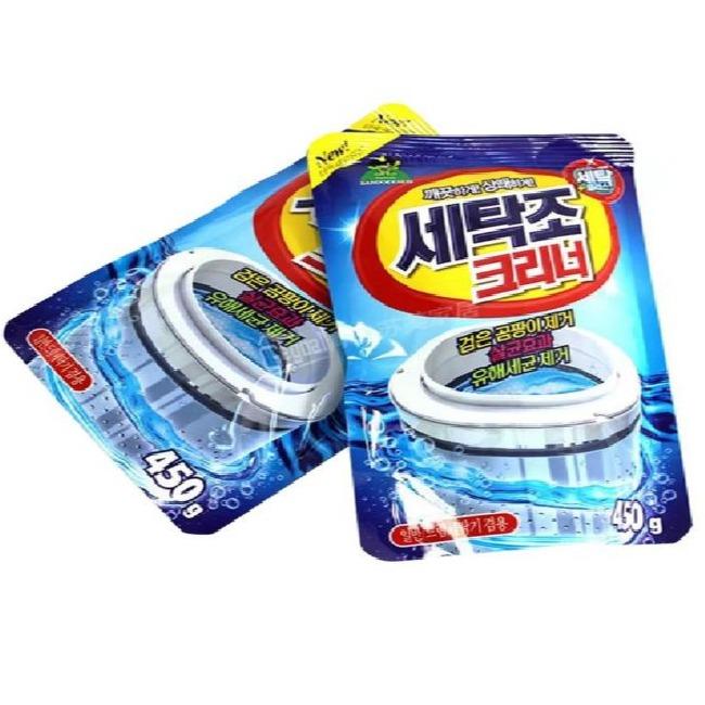 [HCM]Combo 2 gói bột tẩy lồng máy giặt ngang và đứng siêu sạch Hàn Quốc 450gram