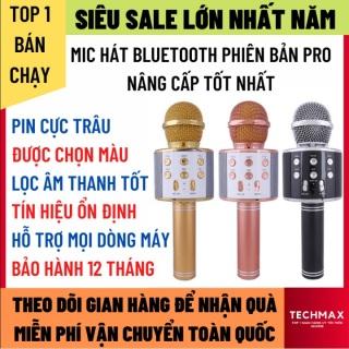 Micro Karaoke Bluetooth Không Dây Phiên Bản Mới Chống Ồn Lọc Tạp Âm Tốt Hát Siêu Hay, Micro Không Dây Pin Trâu Hỗ Trợ Mọi Dòng Máy 1