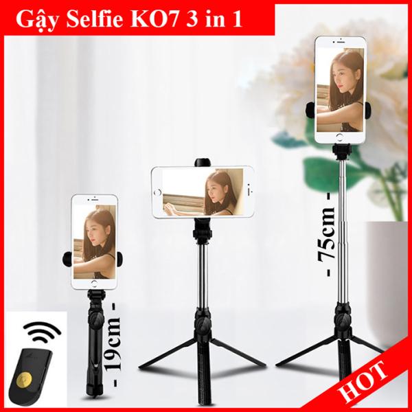 Gậy Chụp Hình Selfie Bluetooth K07 Điều Khiển Từ Xa 3 Chân- Gậy Chụp Ảnh Bluetooth K07 Hỗ Trợ Quay Phim, Livetream Siêu Hot 2020-Gậy Chụp Hình Đa Năng- Gậy Chụp Ảnh Selfie Đỉnh Cao-Giá Đỡ Điện Thoại Xem Phim Bảo Hành 12 tháng