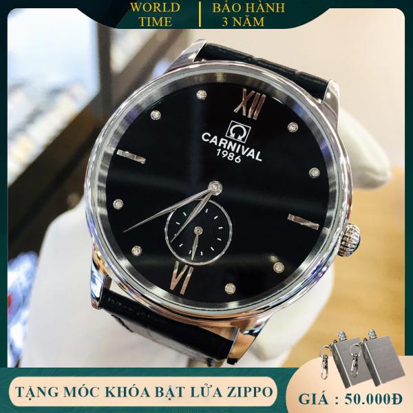 Đồng hồ nam Carnival 8708G Full box, Thẻ Bảo Hành 03 năm, Kính Sapphire Chống xước, Chống nước, Dây da cao cấp bán chạy
