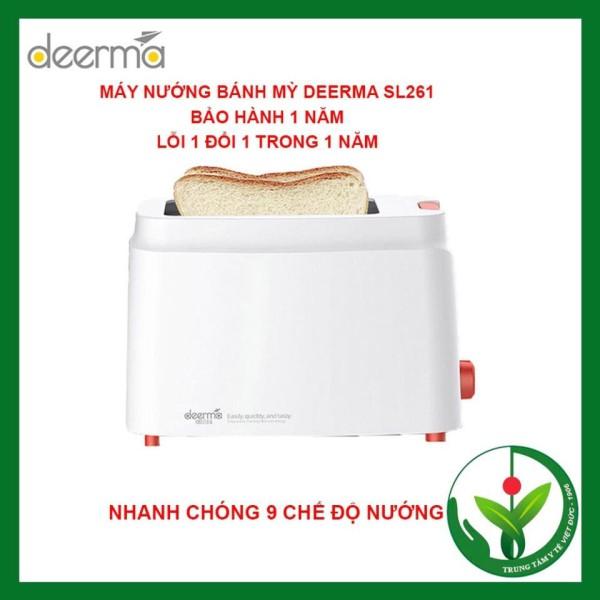 Máy nướng bánh mỳ Deerma diệt khuẩn nhỏ gon, siêu nhanh