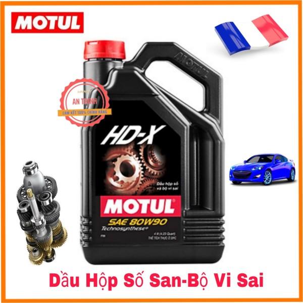 Nhớt Hộp Số Sàn ÔTô Motul HD-X 80W-90 (4L), Mã QR Chống Giả