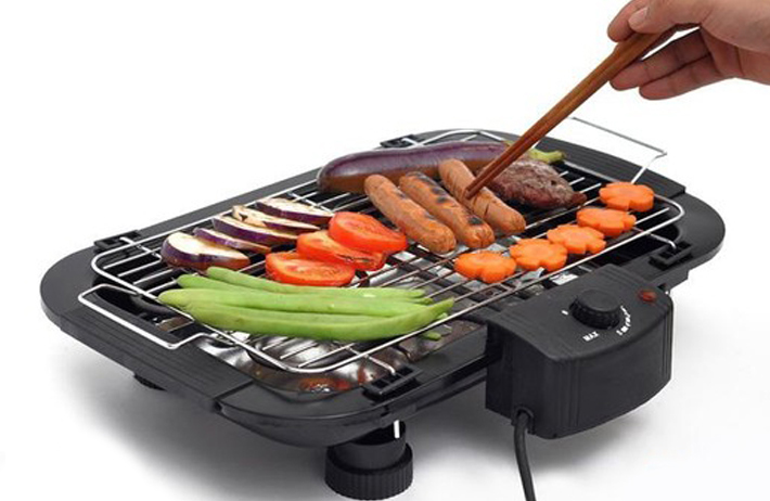 Bếp nướng không khói BBQ - Bếp Nướng Điện Không Khói Electric Barbecue Grill - Lò Điện Nướng Thịt
