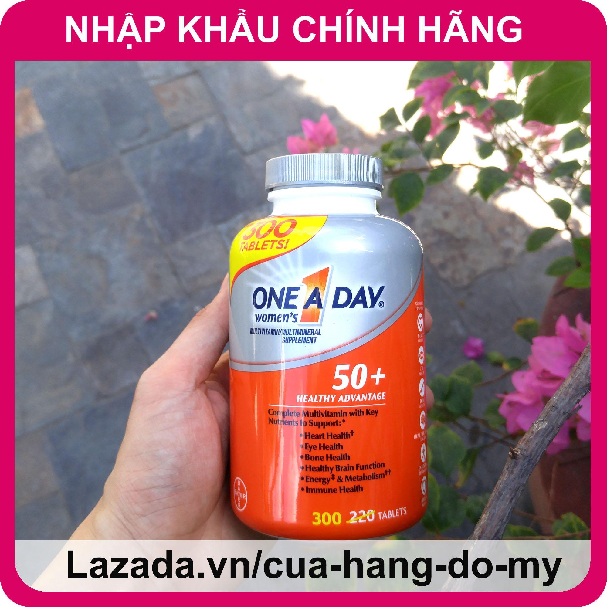 Vitamin Tổng Hợp One A Day For Women 50+ dành cho phụ nữ trên 50 tuổi 300 viên, giúp bồi bổ cơ thể tăng sức đề kháng chính hãng
