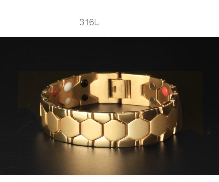 Lắc tay nam titanium mạ 18k thời trang