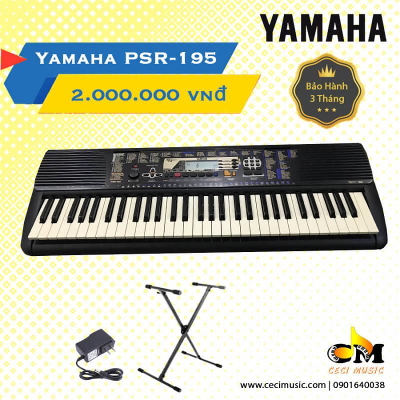 Đàn Organ Yamaha PSR195 nội địa Nhật. Like new 90%. Bảo hành 3 tháng. Tặng chân đàn 150,000đ