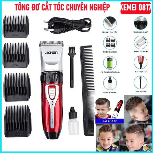 Tông đơ cắt tóc Jichen 8017 không dây cao cấp - Tăng đơ hớt tóc tại nhà cho gia đình, trẻ em( tong do hot toc) , Máy chạy khỏe và êm dễ dàng sử dụng