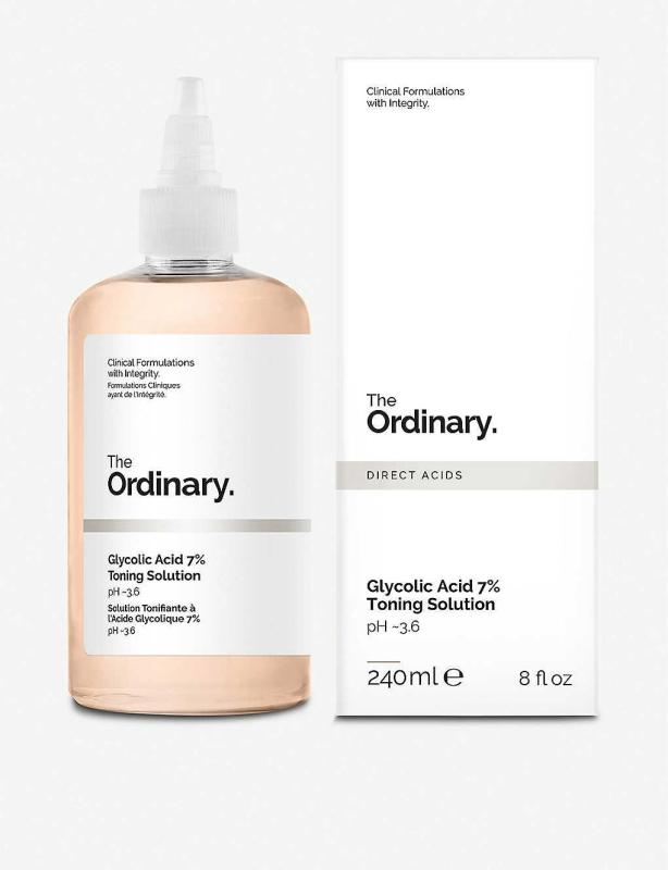 Nước hoa hồng tẩy da chết AHA The Ordinary Glycolic Acid 7% Toning Solution 240ml