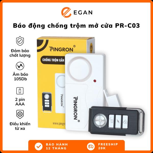 Chuông báo chống trộm nhà còi báo động chống trộm thiết bị chống trộm báo khách gắn cửa không dây PR-C03 Pingron cảm biến chống trộm âm lượng rất lớn 108DB Bảo hành 12 tháng