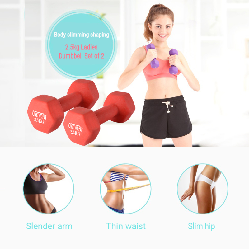 Bảng giá OneTwoFit 2.5kg Neoprene Dumbbell Pairs Sets of 2. Bộ 2 tạ OneTwoFit 2.5kg