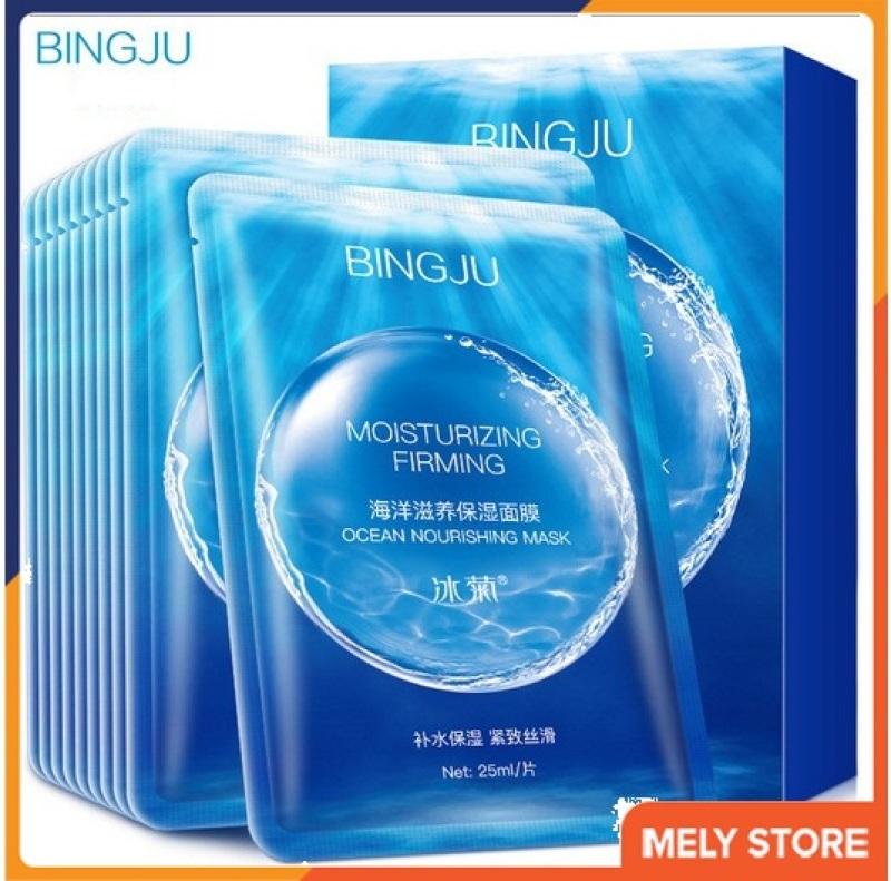 Combo 5 Mặt nạ giấy dưỡng trắng da Bingju, Mặt nạ giấy nội địa Trung giúp dưỡng ẩm, trắng da SPU065