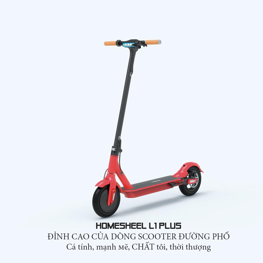 Mua Xe điện thể thao gấp gọn scooter phiên bản L1 PLUS 2020_hàng chính hãng_màu đỏ