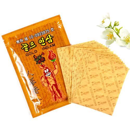 Cao Dán Hồng Sâm Gold Insam Trị Nhức Mỏi Hàn Quốc - Gói 25 miếng nhập khẩu