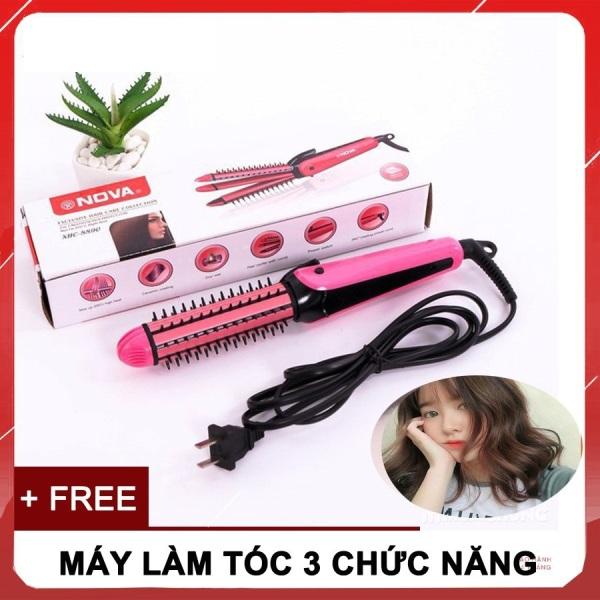 (LOẠI TỐT) Máy duỗi tóc 3 in 1 Nova - máy uốn duỗi tóc mi - máy uốn duỗi bấm tóc - Máy duỗi tóc mini - Uốn Tóc Làm Xoăn Tóc,GIÚP BẠN DỄ DÀNG TẠO NHIỀU KIỂU TÓC,AN TOÀN ,TIỆN LỢI ,NHỎ GỌN (BẢO HÀNH 6 THÁNG LỖI 1 ĐỔI 1) nhập khẩu