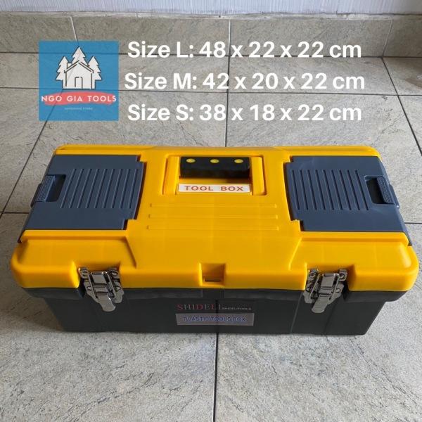 Thùng đồ nghề Đài Loan nhựa dày khoá kim loại 3 cỡ thùng (lớn/trung/nhỏ)