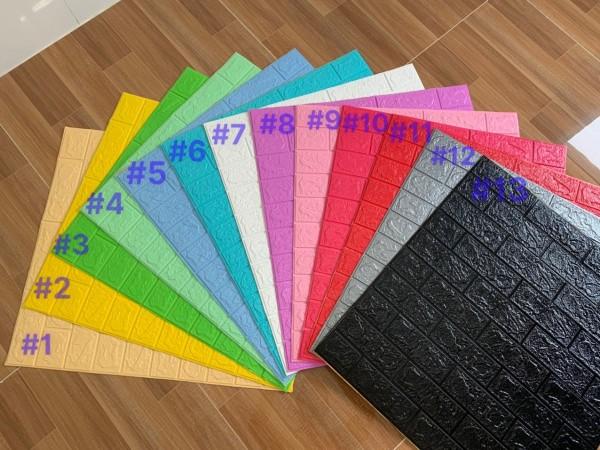[XẢ HÀNG] COMBO 10 TẤM XỐP DÁN TƯỜNG 3D GIẢ GẠCH  , màu sắc chuẩn, keo tốt .Cát Tường( KT: 70x77cm) Chống thấm nước, ẩm mốc, mang lại không gian sạch sẽ và trong lành