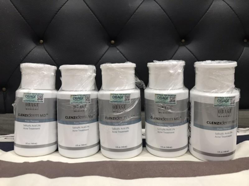 Toner BHA acid salicylic giảm mụn, giảm nhờn, thu nhỏ lỗ chân lông Obagi Clenziderm MD Pore Therapy 148ml giá rẻ chính hãng giá rẻ