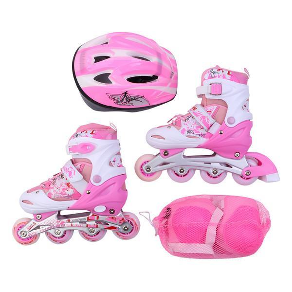 Mua Giày trượt patin 4 bánh cao cấp tặng kèm bộ bảo vệ chân tay và mũ bảo hiểm