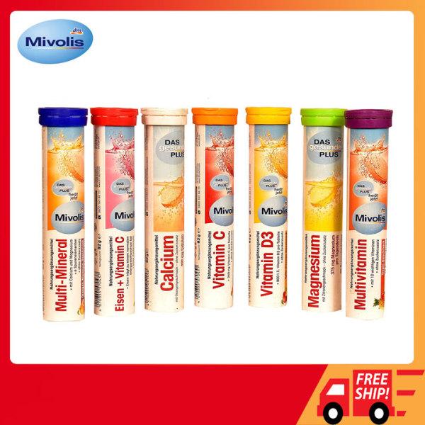 Viên sủi Mivolis 20 viên Đức, Vitamin sủi Mivolis, C sủi Mivolis