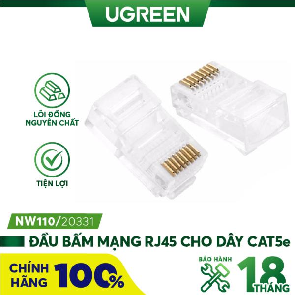 Bảng giá Đầu bấm mạng RJ45 cho dây CAT5e UGREEN NW110 - Hãng phân phối chính thức Phong Vũ