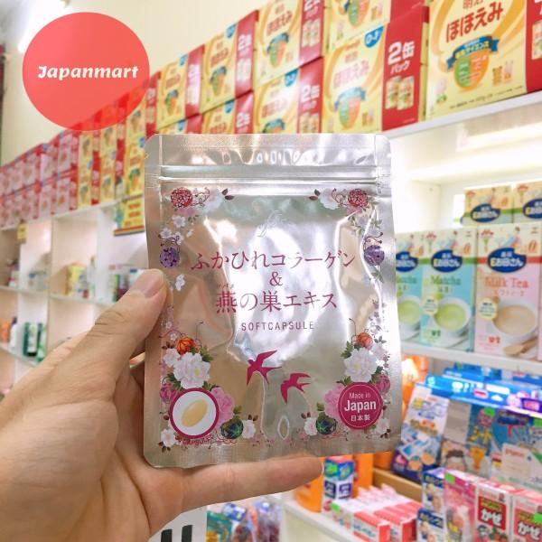 (Ảnh thật chính hãng) Viên Uống Collagen Tươi Chiết Xuất Tổ Yến 30 Viên Nội Địa Nhật Bản giúp nuôi dưỡng làn da mịn màng, tươi sáng, dưỡng ẩm, ngăn ngừa sạm nám và cải thiện các dấu hiệu của tuổi tác