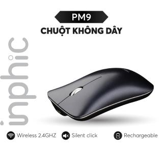 Chuột không dây Inphic PM9 phong cách Macbook có thể sạc lại dùng cho tất cả các dòng máy tính, laptop, smart TV, TV box... - Hàng Chính Hãng thumbnail