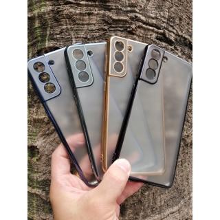 Ốp lưng Sulada nhám viền màu Samsung S21, S21 Plus, S21 Ultra chống vân tay siêu đẹp sang trọng thumbnail