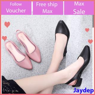 Sandal nữ đi mưa Alina cao 3.5p phong cách thời trang nhiều màu V241+V251 thumbnail