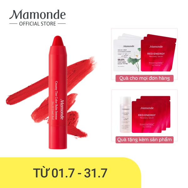 Son bút chì 3 in 1 cho bờ môi mềm mượt Mamonde Creamy Tint Color Balm Intense 2.5g cao cấp
