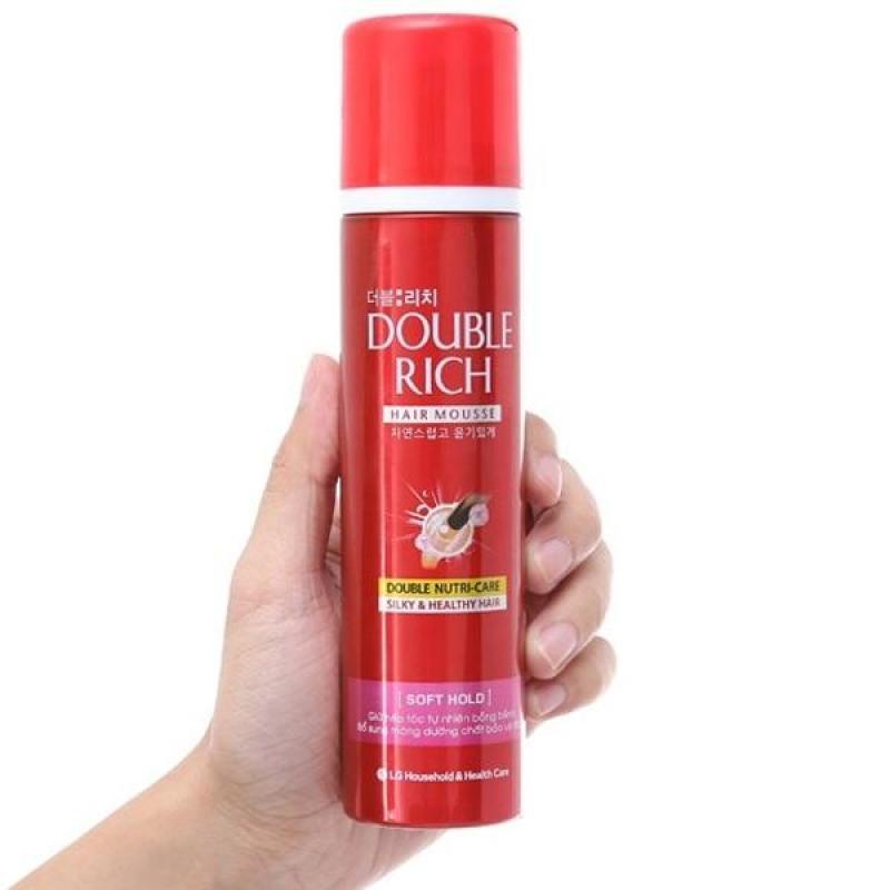 Mousse dưỡng tóc & giữ nếp tóc Double Rich Hair Mousse 150g giá rẻ