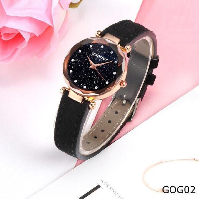 Nơi bán Đồng hồ thời trang nữ GoGoey dây da nhung cực đẹp SC379