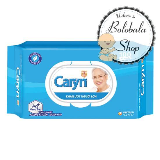 Khăn giấy ướt Caryn 100 miếng kháng khuẩn ngăn mùi