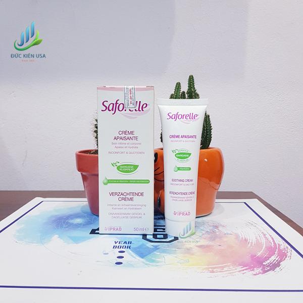 ( Hàng Pháp ) Kem làm mềm da và giữ ẩm làm dịu da vùng kín Saforelle  Soothing Cream 50ml giá rẻ