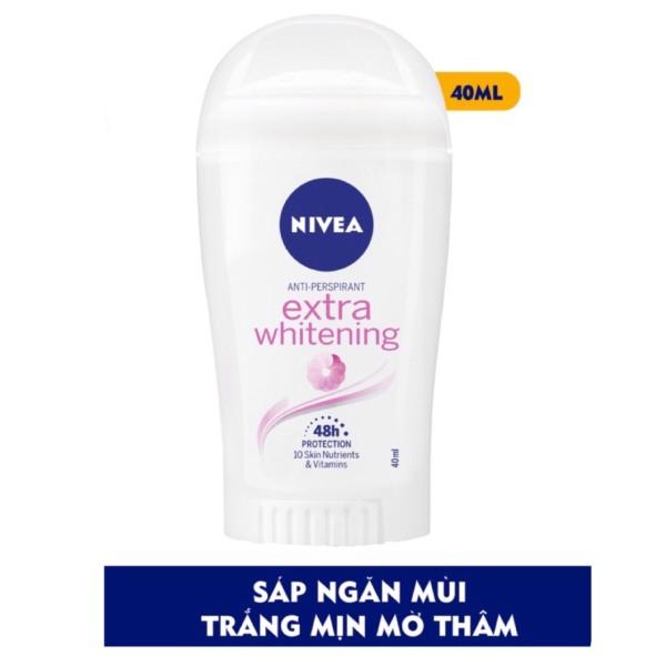 Sáp khử mùi Nivea Extra Whitening Trắng Mịn Mờ Thâm 40ml cao cấp
