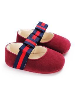 Giày tập đi búp bê đế mềm đính nơ xinh xắn cho bé gái BBShine TD11 thumbnail