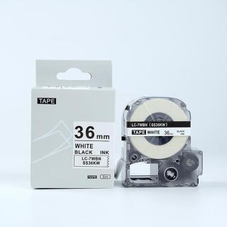 Tape nhãn in SS36KW (LC-7WBN) tương thích máy in nhãn KingJim SR & EPSON LW - Nhãn in chữ đen nền trắng 36mm thumbnail