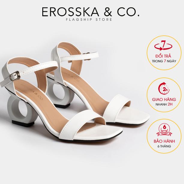 Giày nữ, giày cao gót vuông thời trang Erosska hở gót quai hậu tinh tế cao 5cm (WH) - EB009 giá rẻ