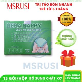 Hera Happy BỔ SUNG CHẤT XƠ PHÒNG NGỪA HỖ TRỢ ĐIỀU TRỊ TÁO BÓN - MSRUSI thumbnail