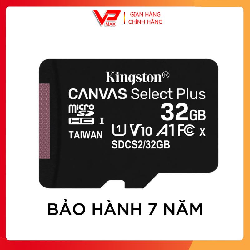 Thẻ nhớ 32GB Kingston Canvas Select Plus dùng cho điện thoại camera - vpmax