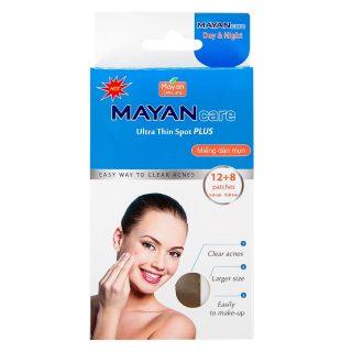 Miếng Dán Mụn Mayan Ultra Thin Spot Plus 12+8 miếng (12 miếng 1.0cm + 08 miếng 0.8cm) thumbnail
