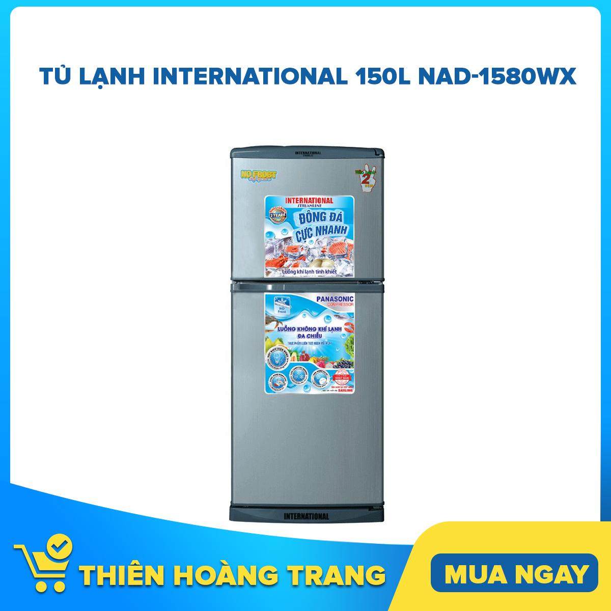 Bảng giá TỦ LẠNH INTERNATIONAL 150L NAD-1580WX Điện máy Pico