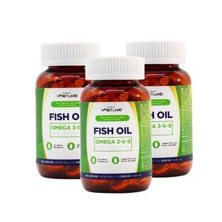 3 HỘP TPBVSK FISH OIL OMEGA 3-6-9 PINE NEEDLE OIL (150 VIÊN HỘP) HONEYLAND thumbnail