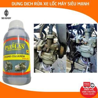Dung dịch rửa lốc máy cực mạnh Pallas Engine Cleaner Powerful 500ml, nước tẩy rửa vệ sinh khoang máy, làm sạch dầu nhớt, rỉ sét trên các vật dụng inox, xe máy, Honda-P-0501 thumbnail