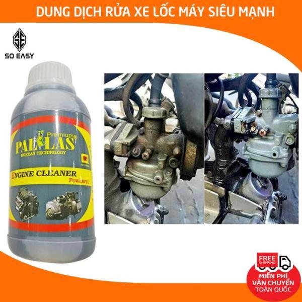 Dung dịch rửa lốc máy cực mạnh Pallas Engine Cleaner Powerful 500ml, nước tẩy rửa vệ sinh khoang máy, làm sạch dầu nhớt, rỉ sét trên các vật dụng inox, xe máy, Honda P-0501