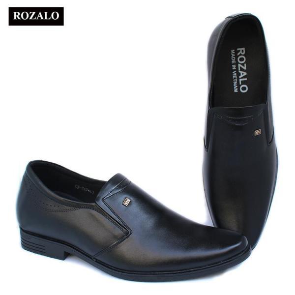 Giày tây nam tăng chiều cao 7cm da cao cấp Rozalo R85567
