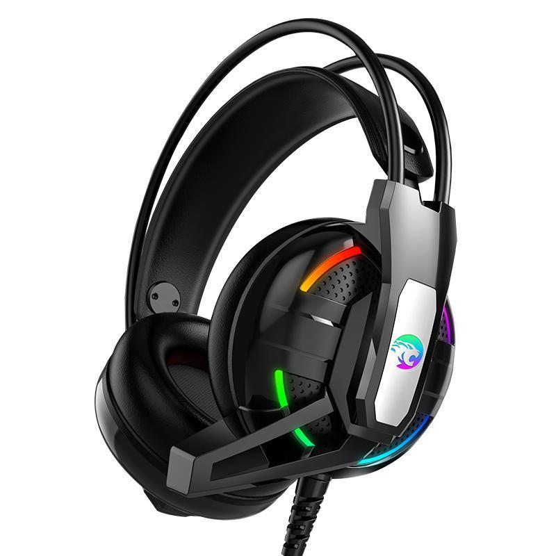 Giá (xã kho 3 ngày ) Tai Nghe Chuyên Game A12 LED RGB ,tai nghe ,tai nghe chup tai ,tai nghe gaming ,tai nghe A12 hổ trợ 2 jack 3.5 và 1 cổng usb cung cấp đèn led - loa đến 50