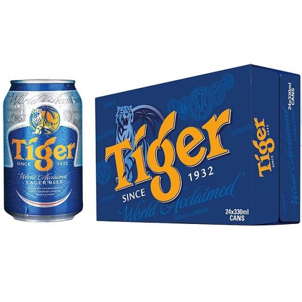 Thùng 12 lon bia Tiger 330ml