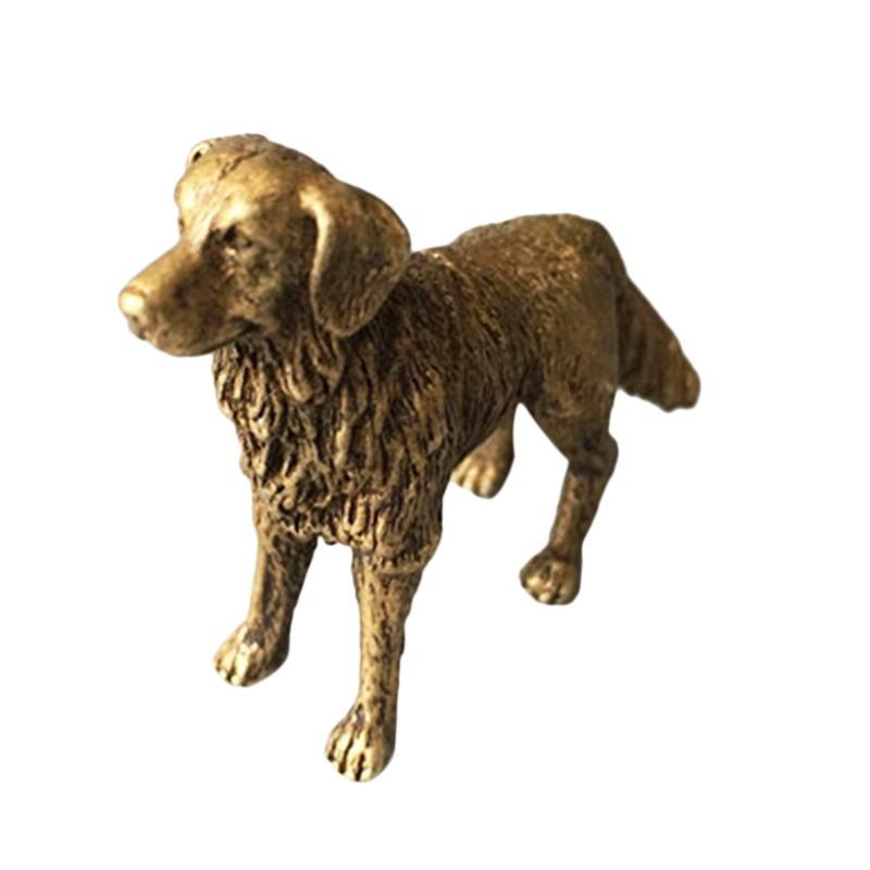 Solide Brass Small Dog Figurine Decoration ornament