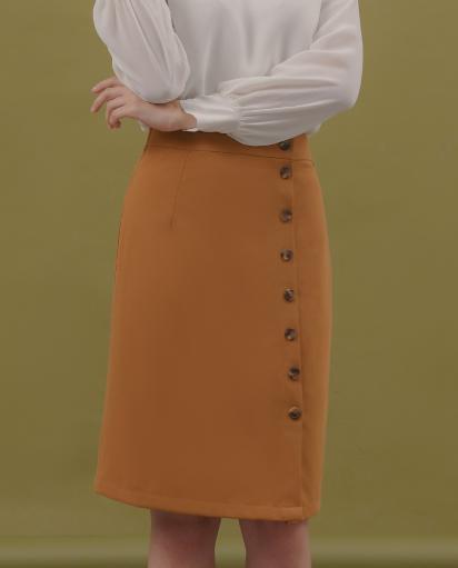 Mã Khuyến Mãi Khi Mua Váy Bút Chì Đính Nút - Lilya 01DRE2324